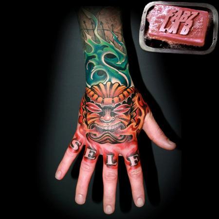 Tattoos - Tiki Hand Tattoo - 62177