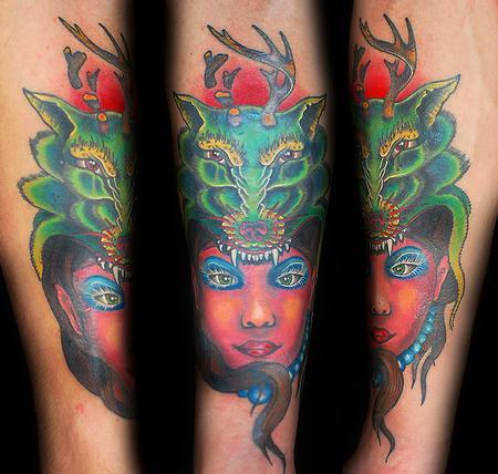Tattoos - Wolf Hairdress - 75763