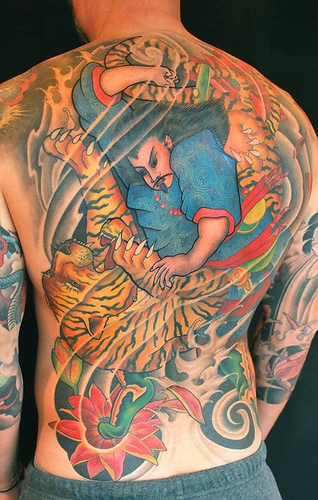 Tattoos - Tiger & Samurai - 75764