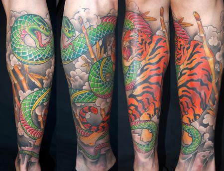 Tattoos - Tiger + Snake - 54782