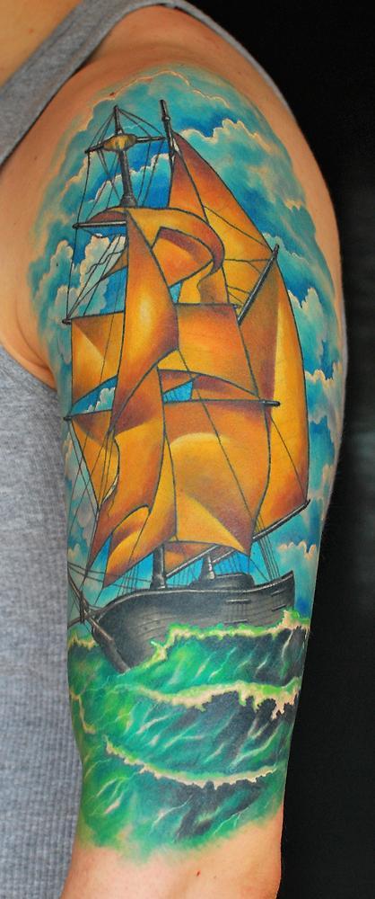 Tattoos - Sailboat - 75769