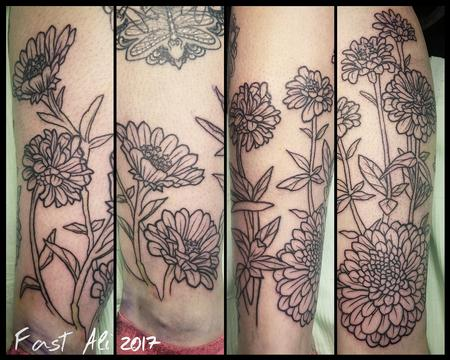 Tattoos - Meggan's Zinnias for Mom - 126397