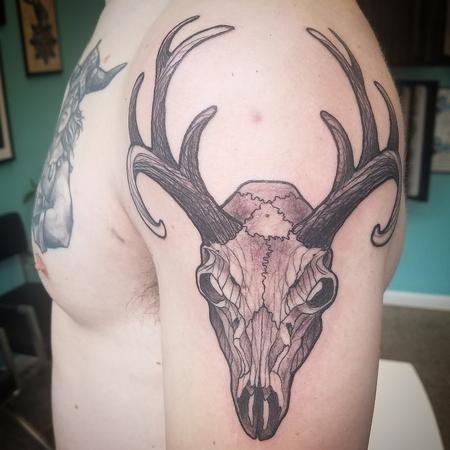 Tattoos - Mike's Deer skull - 128357