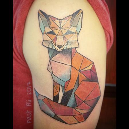 Tattoos - Konstantin's geometric fox - 128234