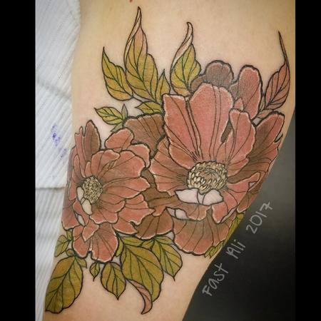 Tattoos - Patty's flowers in muted tones - 128942