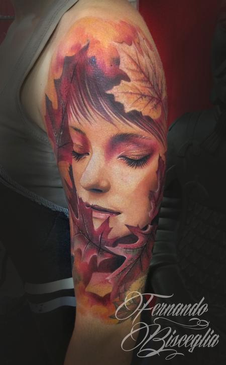 Tattoos - autumn woman - 97787