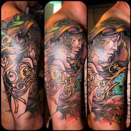 Tattoos - Art Nouveau Inspired Tattoo - 77205