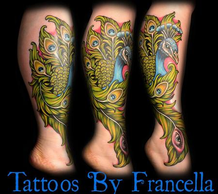 Tattoos - Color Peacock  - 126915