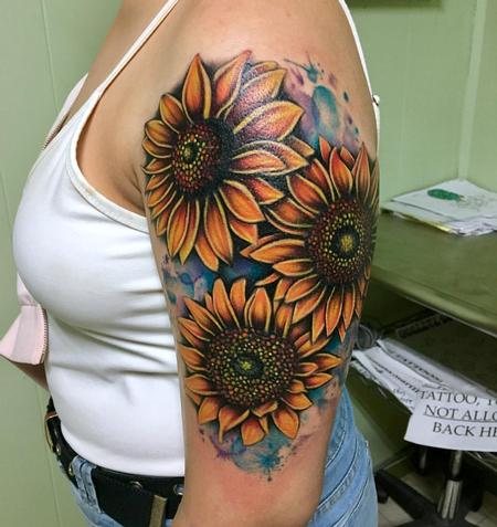 Tattoos - Sunflowers - 128985