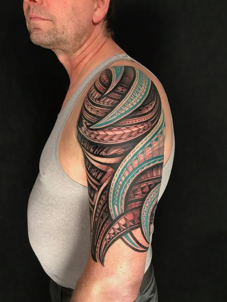 Tattoos - polynesian arm sleeve - 132758