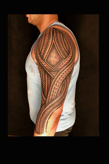 Tattoos - polynesian arm sleeve - 132766