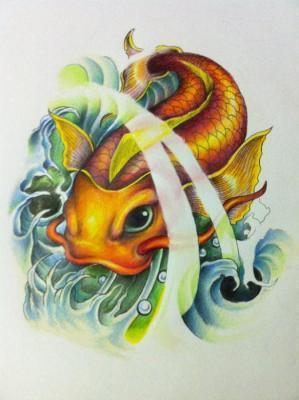 Tattoos - Koi Fish Drawing - 60565
