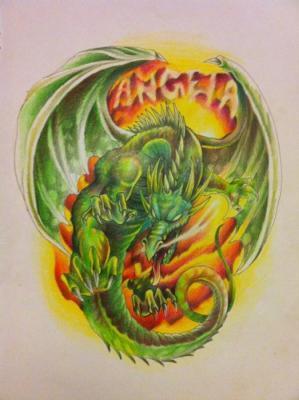 Kyle Little - Custom Dragon Drawing