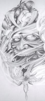 Kyle Little - Hannya Mask Drawing