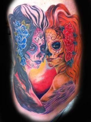 Tattoos - Day of the Dead Tattoo - 60562