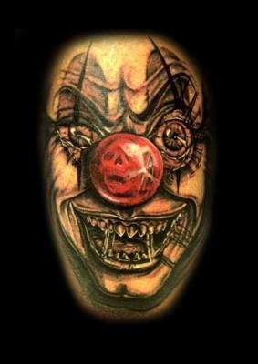 Tattoos - Clown Tattoo - 60569
