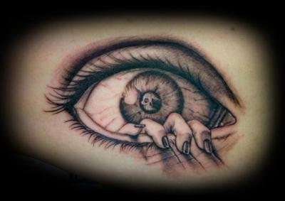 Tattoos - Custom MC Esher Eye Tattoo - 60571