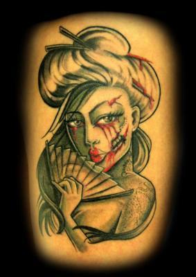 Tattoos - Geisha Tattoo - 60572