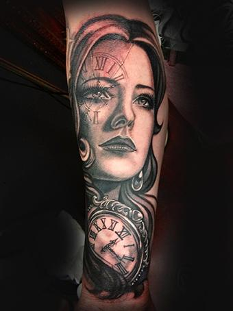 Tattoos - Lady Time - 78091