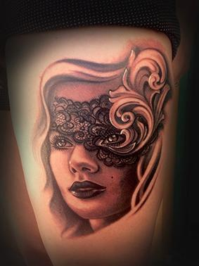 Tattoos - Lady and filigree - 78089