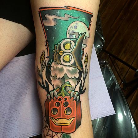 Tattoos - Spooky Lil Owl duder - 97739