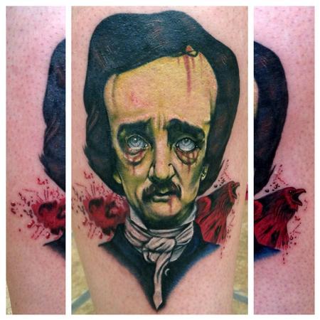 Tattoos - Zombie Edgar Allan Poe - 80165