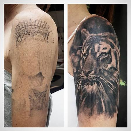 Tattoos - Tiger Coverup - 128638