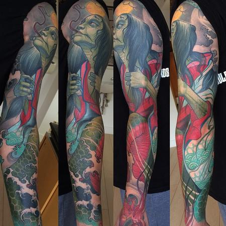 Tattoos - Kiyohime tattoo sleeve - 112169