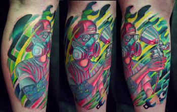 Tattoos - painter portrait - 9079