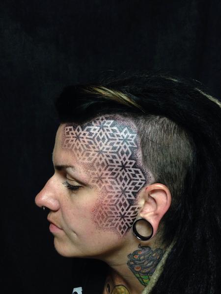 Tattoos - face pattern  - 99963
