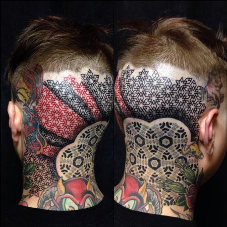 Tattoos - back of head - 99965