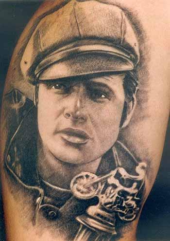 Tattoos - Marlon Brando.TATTOO PARIS AVIGNON FRANCE, TATOUAGE PARIS AVIGNON TATTOOS,TATOUEUR PARIS, BOUTIQUE TATTOO PARIS, BOUTIQUE TATOUAGE AVIGNON - 29630