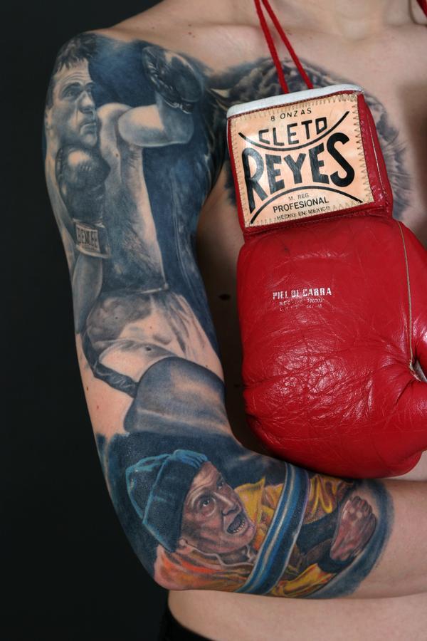 Tattoos - Marcel Cerdan,boxer.TATTOO PARIS AVIGNON FRANCE, TATOUAGE PARIS AVIGNON TATTOOS,TATOUEUR PARIS, BOUTIQUE TATTOO PARIS, BOUTIQUE TATOUAGE AVIGNON - 29858