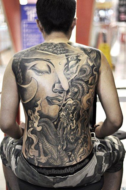 Meng Xiangwie - Black and Grey Buddha Tattoo