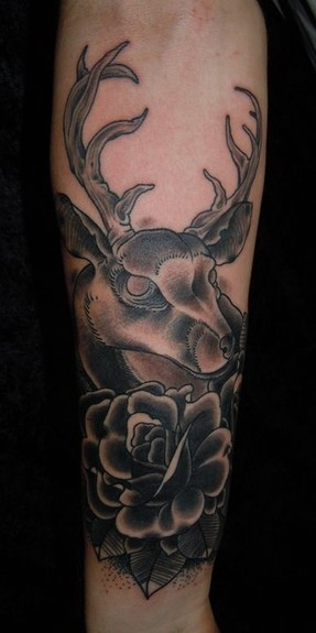Heath Crowe - Deer Tattoo