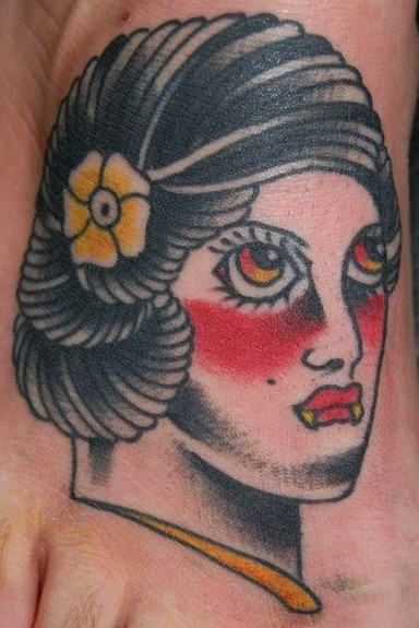Tattoos - Traditional  Vampire Girl  - 51665