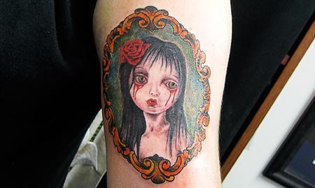 Tattoos - Color Girl Portrait Tattoo - 61614