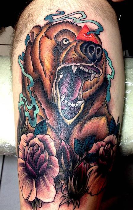 Tattoos - Bear Tattoo - 68042