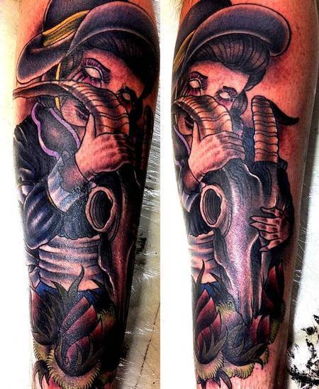 Tattoos - Ram Skull Tattoo - 68041