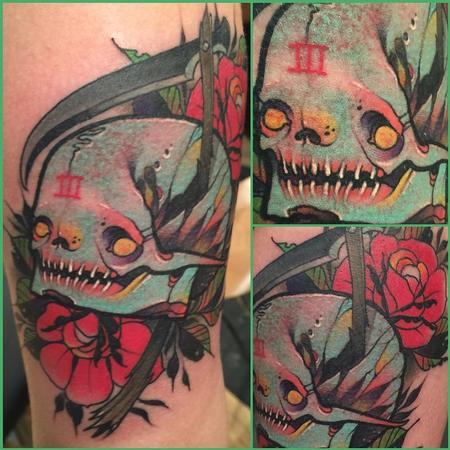 Tattoos - death skull - 101961