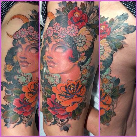 Tattoos - Flapper Girl - 101970