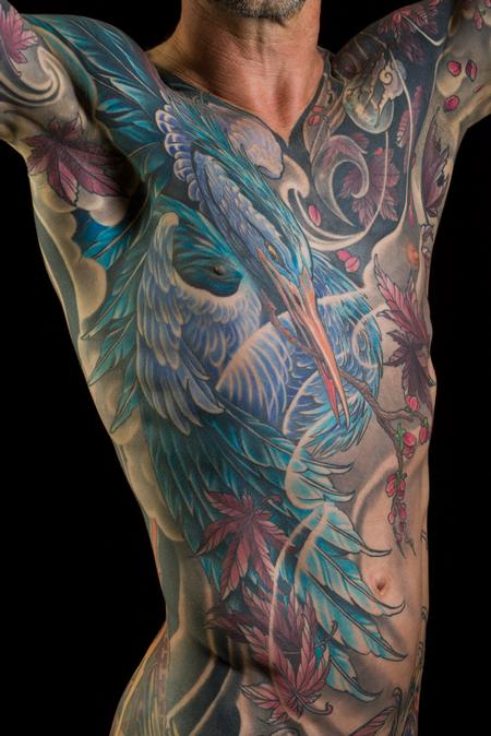 Tattoos - Glenn's Blue Heron - 133372