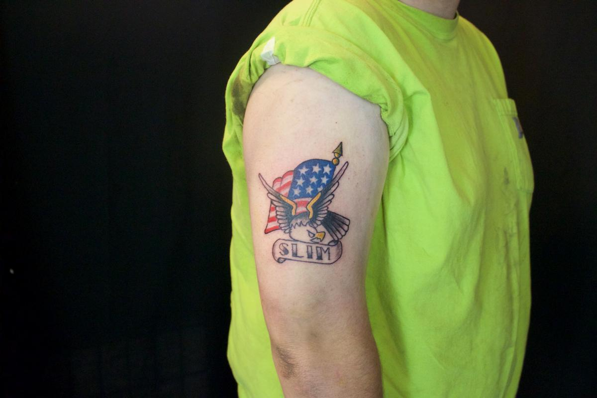 Sailor Jerry Eagle And Flag Tattoo By Ben Licata Tattoonow