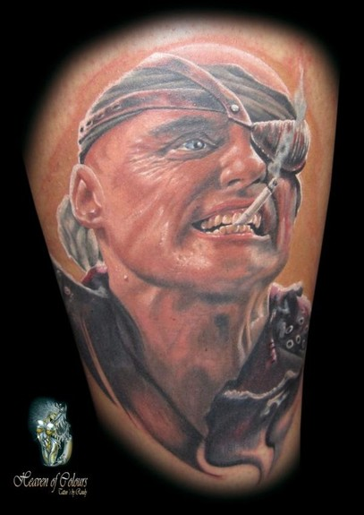 Randy Engelhard - Smoking Portrait Tattoo