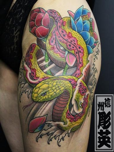 Shinshu Horiei - Custom Snake Tattoo