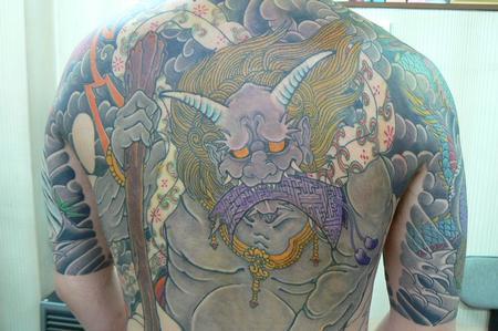 Tattoos - Japanese Tebori Tattoo Backpiece - 62328