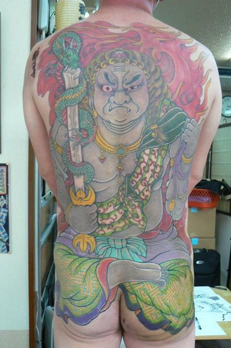 Tattoos - Japanese Tebori Tattoo Backpiece - 62326