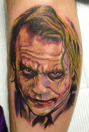 Tattoos - Heath Ledger Joker Tattoo - 36444