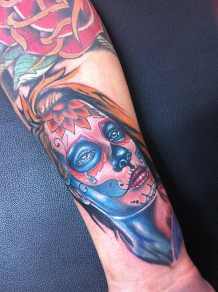 Tattoos - Day of the Dead Tattoo - 61622