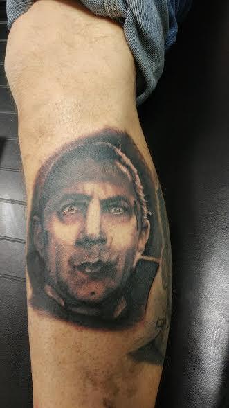 Tattoos - Dracula Black and Grey Portrait - 122724